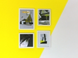 Collagen: Gelbe Pyramide/ Synthetische Farbe/ Suprematistische Formen/ Farbige Gruppe// Lack/ Folien/ Photopapier/ 2010