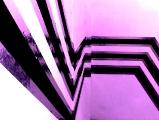 Straight // Wandmalerei / Dipersionsfarbe / Silber Tape / 2010