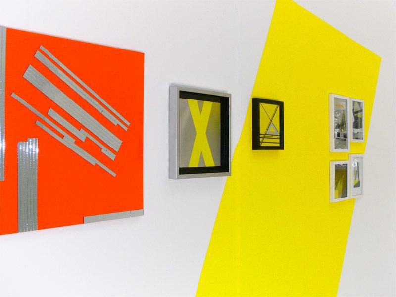 Sandra Poppe - Bestes Orange // Spiegelmosaik auf Acrylglas / 50 x 50 cm/ 2010