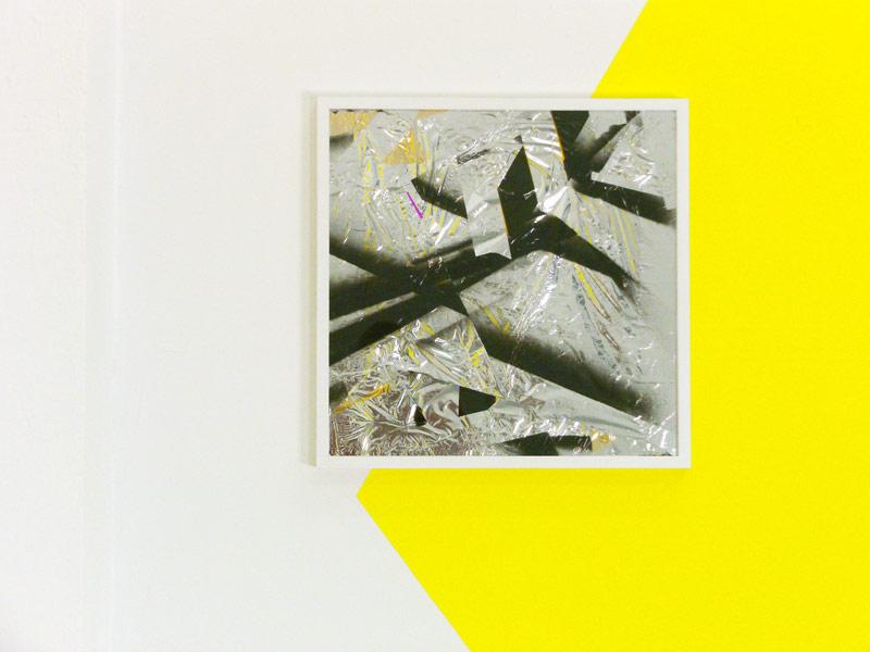 Sandra Poppe - Silver Cloud // Silberfolie / Acryllack / 50 x 50 cm/ 2010