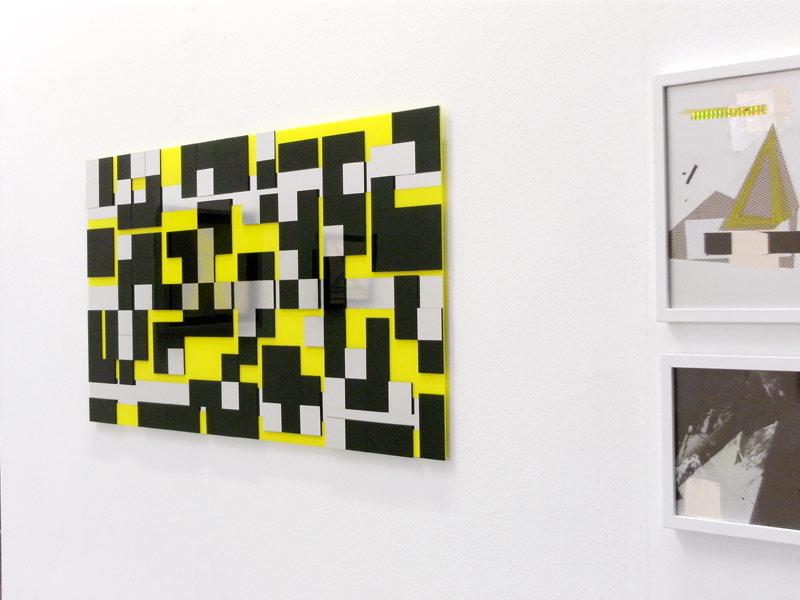 Sandra Poppe - Game of Life // Acrylglas auf Acrylglas / Silberfolie / 125 x 55 cm/ 2010
