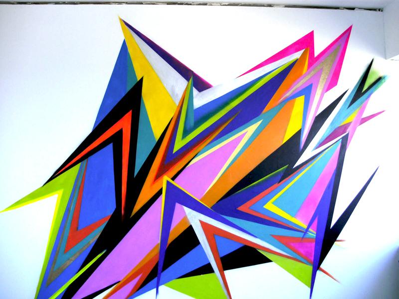 Sandra Poppe - Meta Farbe // Wandmalerei/ Sprayfarbe/ Frappant 02 / Hamburg / 2009